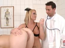 Doctor exam orgasm