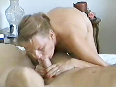Business! This homemade double barrel blowjob the