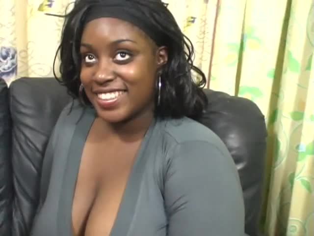 Ebony sucks cock