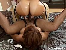Ghetto black lesbians with strap on