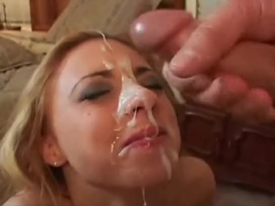 Good Cum on her face compilation for