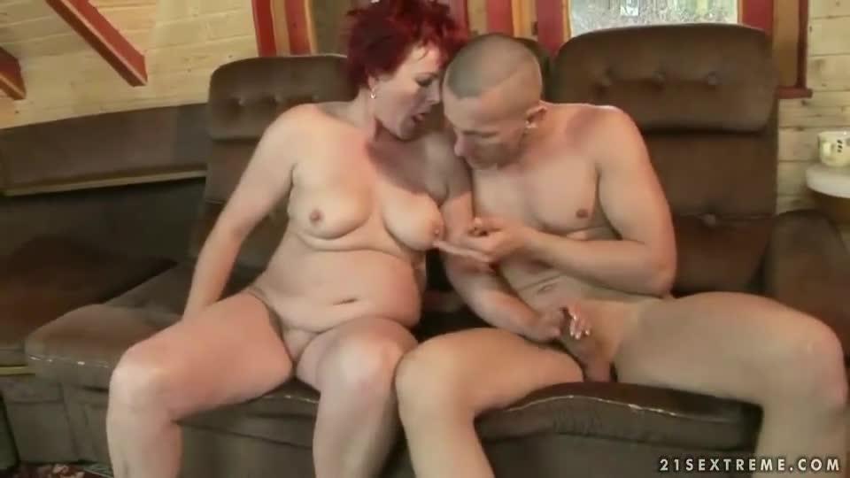 Hot Old Milf Fucks Young Guy