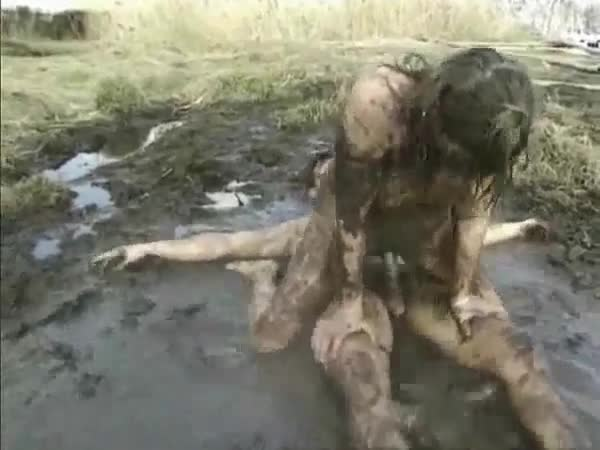 Girl fucking in mud consider