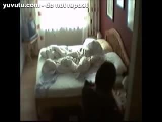 Wife Masturbating In Bed