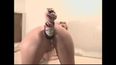 Beer bottle anal