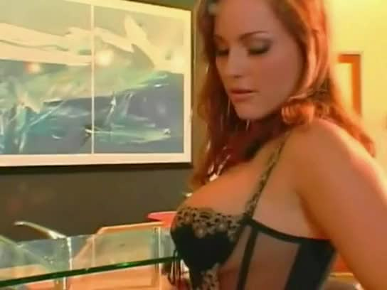Fiery redhead watches as a guy sucks cock