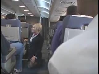 Flight attendant upskirt