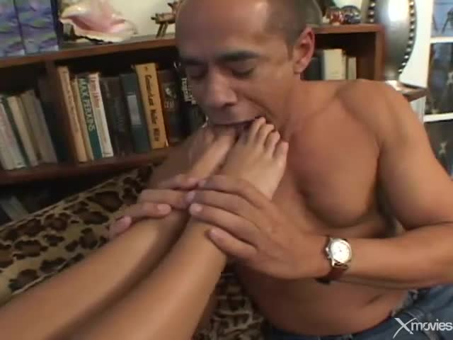 Foot fetish foreplay