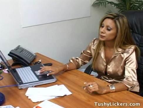 Ass licking in the office