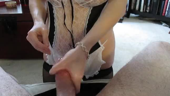 French maid hand job