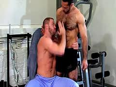 Banged hung bear spunks