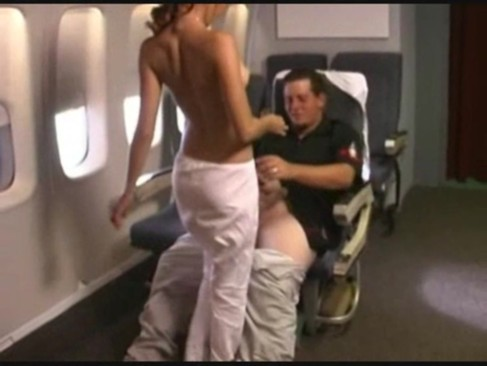 Airplane bathroom porn