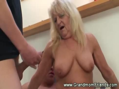 fucking granny threesome with sucking and fucking chinese granny threesome. duration : 1:12