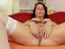 Girl wearing the tits shirt