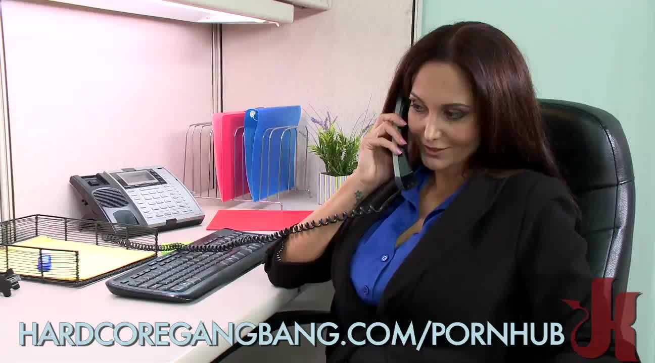 Office slut thumbs