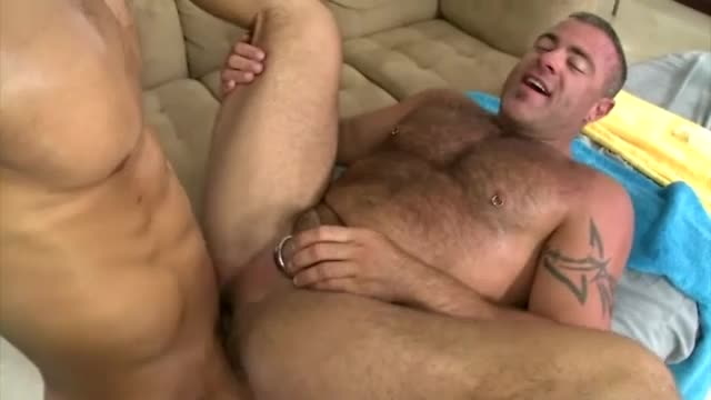 Bear Sucks Straight Cock