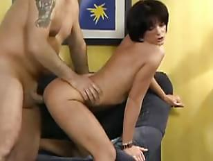 German brunettes gets fucked and swallow