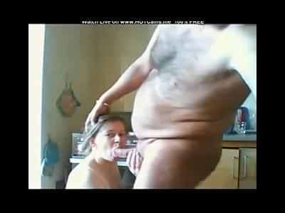 German wife blowjob