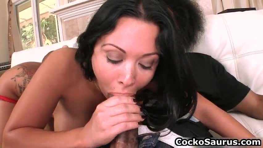 Teen sucking big black cock