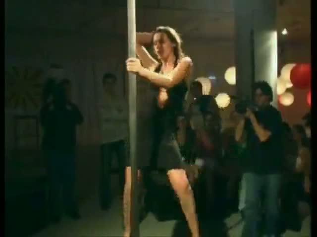 Naked pole girl strip