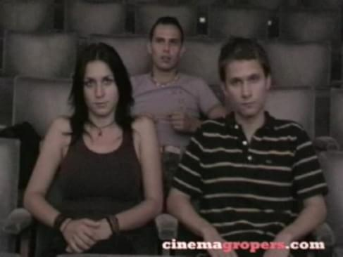Girl at porn theater really