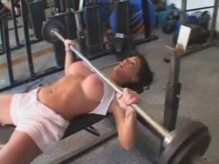 Lifting Weight With Cock
