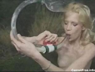 Drinking shots of cum