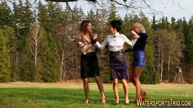 Glam Lesbians Gargle Piss