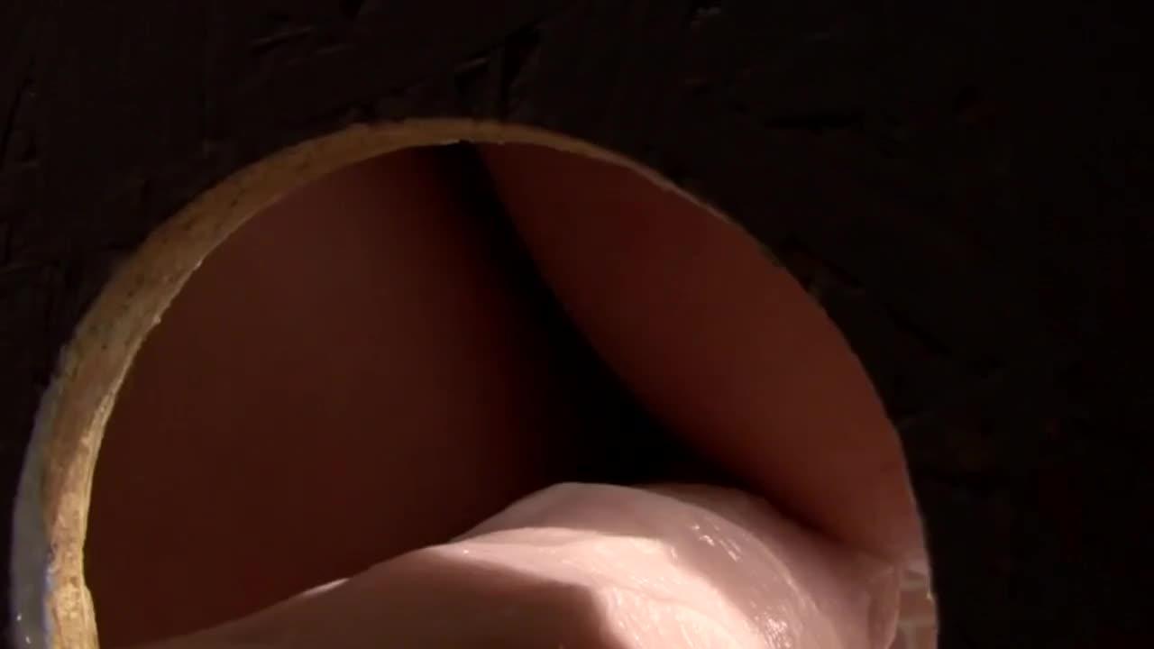 Ebony grinding on cock