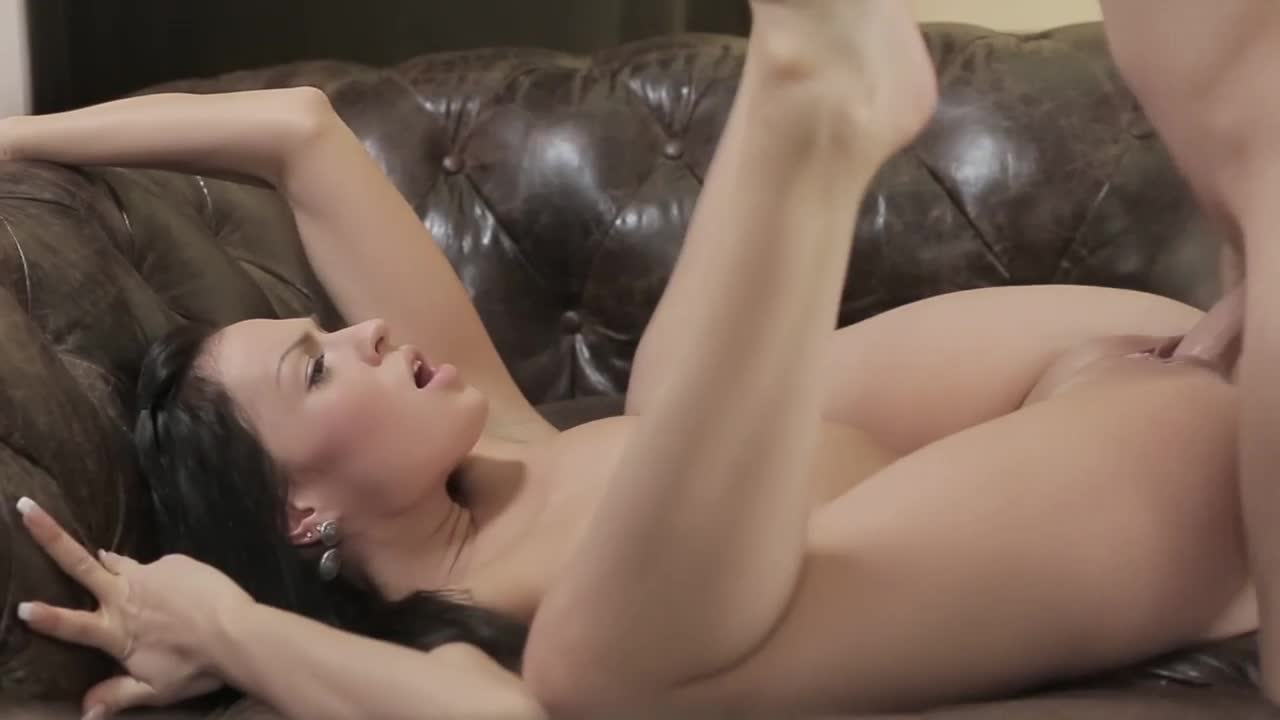 Gorgeous brunette fucked by big cock 5
