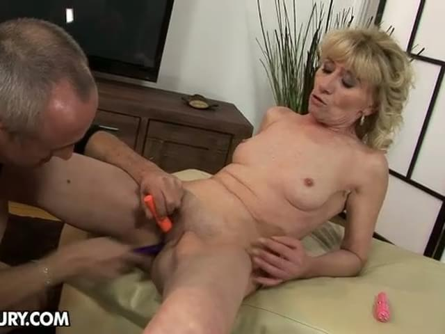 Blonde busty sex wife