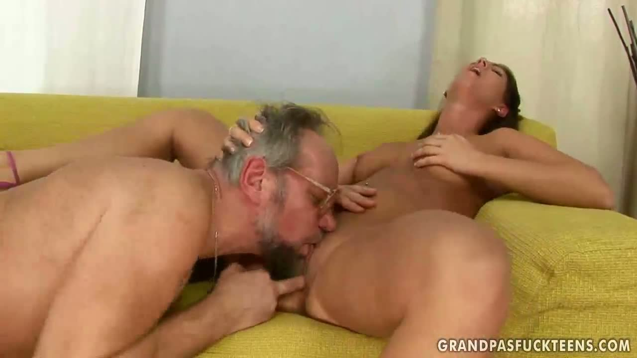 Enjoying grandpa girls sex