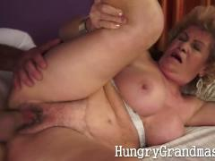 Wide open granny pussy