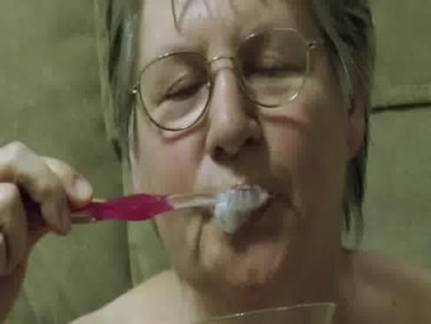cum on her toothbrush