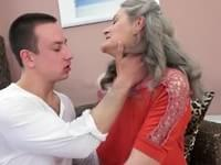 Were gray hair granny sucking cock with