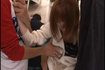 Groping chikan in train