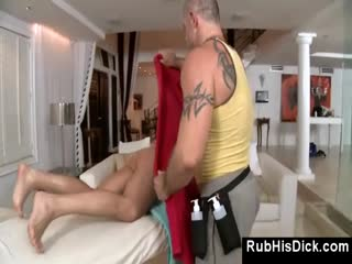 guy gets gay massage from sexy bear Bikini Wax