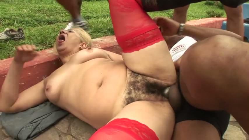 Milf poolside sex