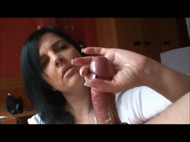 Handjob cum on hands