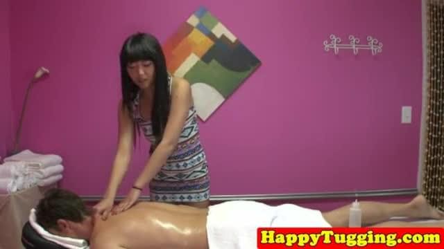 Handjob Massage Threeway With Asians Jerking