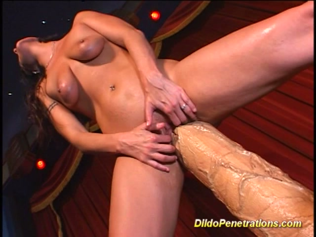Asian big dildo penetrations