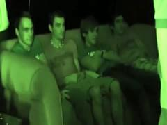 Hazed gaystraight frat twinks facialized after anal drilling