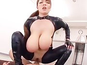 Hitomi Tanaka In Black Leather