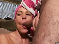 shower blowjob After