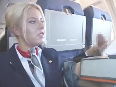 american stewardess handjob long version