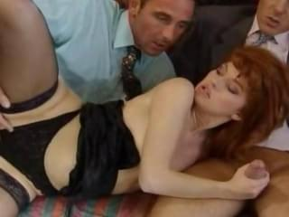 horny ginger girl gets anal sex. duration : 3:20