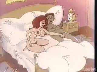 cartoon Horny housewife