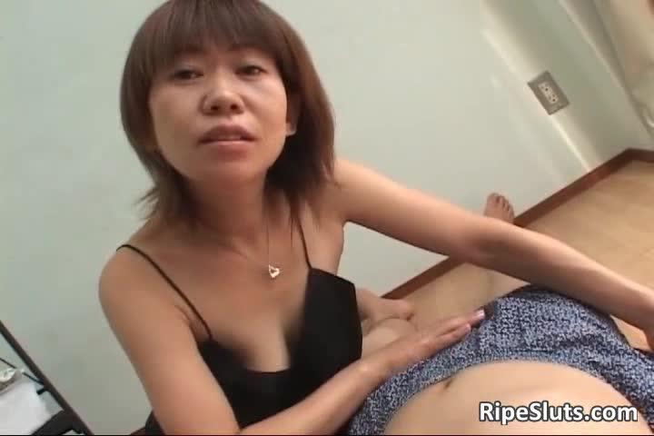 Horney mature asian