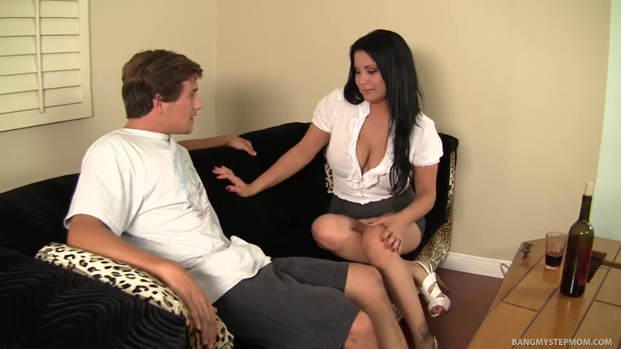 Horny milf seduces her stepson