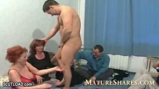 Granny orgy Kinky